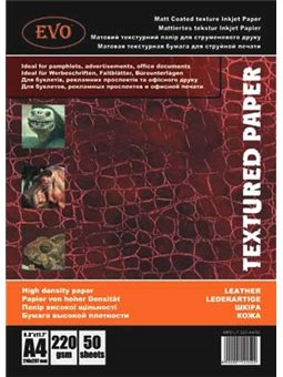 Фотобумага EVO матовый двусторонний текстура кожа 220 г 50 листов А4 MPD LT 220 A4 / 50