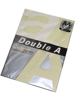 Папір кольоровий Double A А4 80г/м2, 25 аркушів, колір пастельний жовтий 3053
