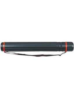Тубус Memoris-Precious пластиковый раздвижной, 102см максимум d 8,3 см, цвет: черный, серебряный MF18347,MF18347-S