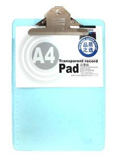 """Планшет А4 """" M & amp G """" с Притиска пластиковый, прозрачный, цвет голубой ADM94563"""