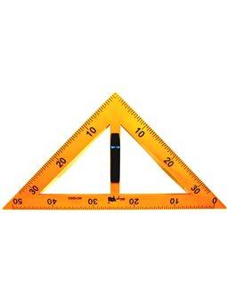 Треугольник равнобедренный, для школьной доски, 50 см, с Держатель, желтый E-SBA-2