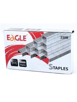 Скоба Eagle в степлера металлическая 23/8, 1000 штук в упаковке 2308