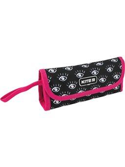 Пенал для девочек Kite City 1 отделение Черный с малиновым (K20-653-3)