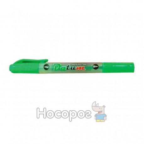 Маркер текстовый двусторонний D2333-08 зеленый