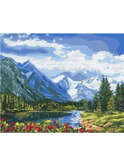 Картины по номерам - Альпийское совершенство (КНО2288)