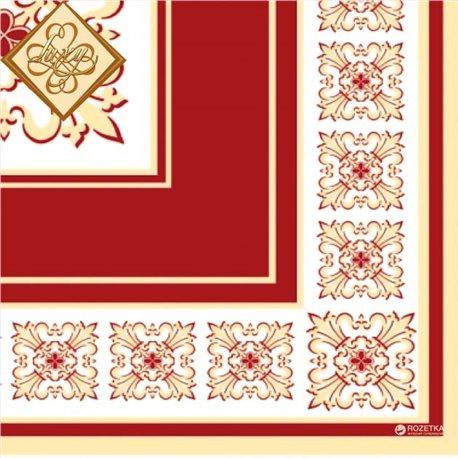 Фото Салфетки столовые Luxy трехслойные 33х33 cм 20 шт Верона Красные (4820012346301)