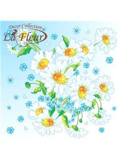 Салфетки столовые La Fleur двухслойные 33х33 cм 20 шт Чудесная ромашка (4820164965405)