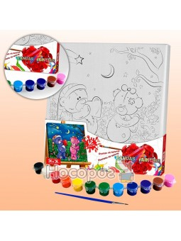 Креативное творчество роспись на полотне Canvas Painting 5 №7 Мишки PX-05-07