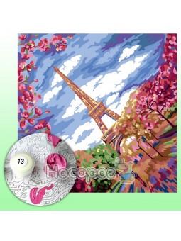 Креативное творчество Картина по номерам на холсте №2 Париж KpN-02-02U