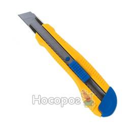 Нож канцелярский BuroMax 18мм 4617 мет. направляющая, пласт. корпус