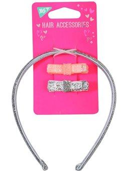 Набор для волос: 1 обруч и 2 заколки (707132) [5056137187133]