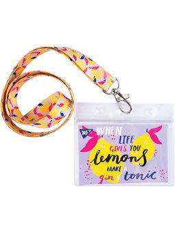 """Бейдж YES на стрічці """"Hotch Potch Lemonade"""", принт"""