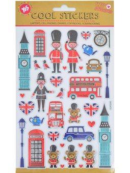 """Набор декоративных стикеров с тиснением """"London"""", 140*210мм (953500) [5056137108503]"""