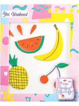 "Набор наклеек YES ""Patch stiker"" банан, вишня (554316) [5056137100804]"