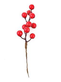 Ветка Yes! Fun с красными ягодами, засахаренная, 17 см (973523) [5056137190065]