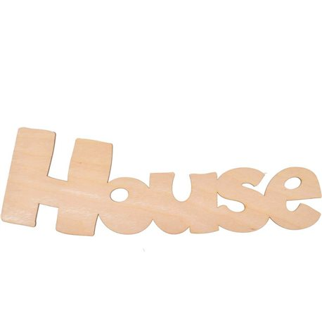 """Надпись Yes! Fun из фанеры 0.4 """"House"""", 34.5*10.5 см (742473) [4820077424730]"""