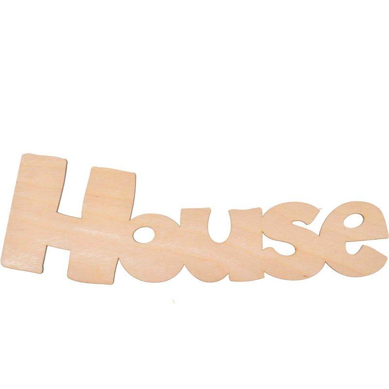 """Фото Надпись Yes! Fun из фанеры 0.4 """"House"""", 34.5*10.5 см (742473) [4820077424730]"""