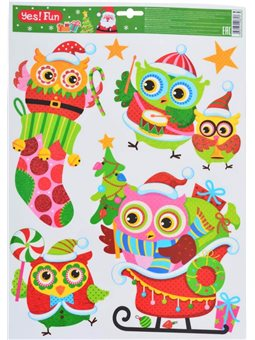 Наклейки Yes! Fun новогодние для окон, глиттер (41*29 см) (801093) [5056137106813]