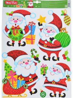 Наклейки Yes! Fun новогодние для окон, лазерные (41*29 см) (801095) [5056137106837]
