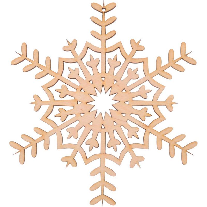 "Фото Фигура Yes! Fun из фанеры 0.4 ""Снежинка декоративная №3"", d-17 см (742450) [4820077424501]"