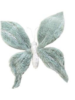 Бабочка Yes! Fun пушистая ментоловая с декором, 20*20 см (973545) [5056137185450]