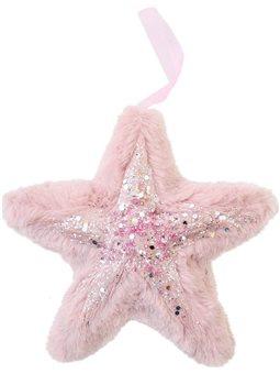 Звезда Yes! Fun пушистая розовая с декором, 16*16 см (973538) [5056137185382]