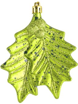 """Игрушка Yes! Fun новогодняя """"Зеленые листья"""" d-10 см (972914) [5056137109593]"""