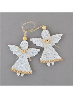 "Набор подвесок Yes! Fun ""Ангелочки"", декорированный серебром, 2 шт. (973471) [5056137157938]"