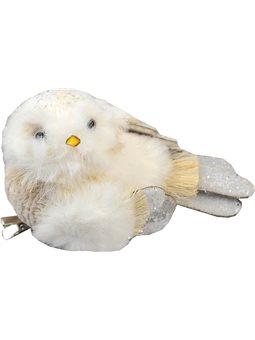Птичка Yes! Fun пушистая кремово-белая, 13*7 см (973551) [5056137185511]