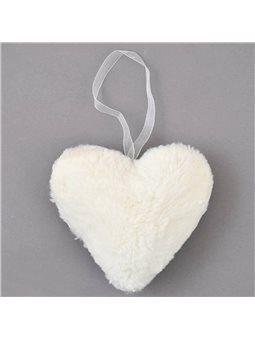 Сердце Yes! Fun пушистое кремово-белое, 15 см (973554) [5056137186457]