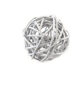 Шар Yes! Fun ротанговый серебряный, d-5см (973312) [5056137144372]