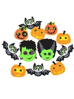 Набор декоративных наклеек Yes! Fun из фетра для Хэллоуина № 4, 12 шт. (973536) [5056137185627]