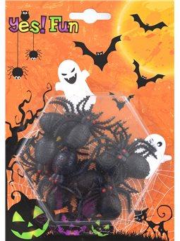 Набор пластиковых черных пауков для декора, 10 шт. (973286) [5056137144570]