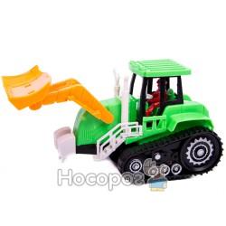 Трактор 1001 поднимается ковш, 4 вида