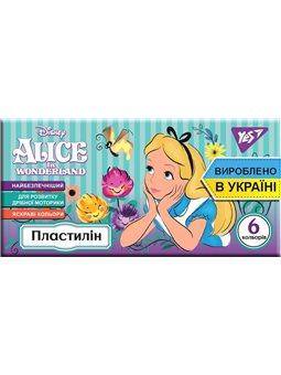 """Пластилин YES """"Alice"""", 6цв, 120г, Украина (540570) [4823091908866]"""