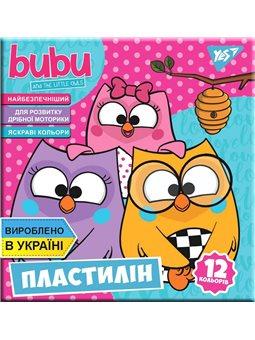 """Пластилин YES """"Bubu"""", 12цв, 240г, Украина (540563) [4823091908835]"""