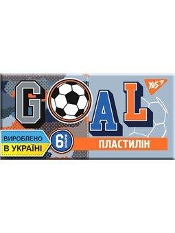 "Пластилін YES ""Football"", 6 кол, 120г, Україна"