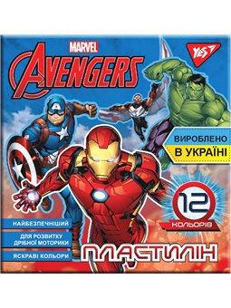 """Пластилин YES """"Marvel"""", 12цв, 240г, Украина (540562) [4823091908859]"""