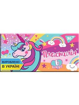 """Пластилин YES """"Unicorn"""", 6цв, 120г, Украина (540571) [4823091908811]"""