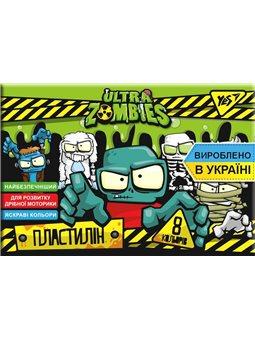 """Пластилин YES """"Zombie"""", 8цв, 160г, Украина (540566) [4823091908804]"""