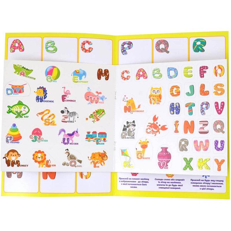 """Фото Набор для изучения английского алфавита с наклейками """"Useful Stickers"""". (953751) [4823091904035]"""