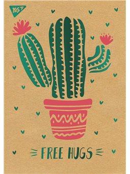 "Блокнот А5/80 кл клей, СМИК+белила+фольга YES ""Tropico. Cactus"" крафт (891439) [4823092241016]"