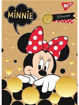 "Блокнот А6/80 кл клей, СМИК+белила+фольга YES ""Minnie Gold"" крафт (891442) [4823092241047]"