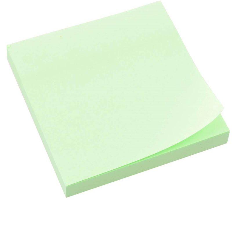 Фото Бумага с липким слоем 75*75мм зелен., 100л L1201-08 (170140) [5009071701408]