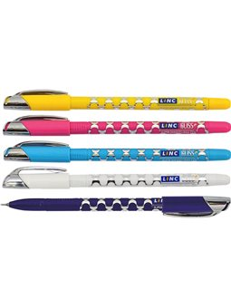 "Ручка кульк/масл ""Gliss"" синя 0,7 мм ""LINC"""