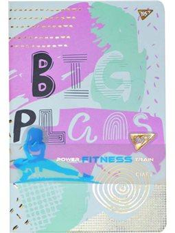 "Блокнот-мотиватор YES ""Big Plans"" серии ""Fitness"", 140 х 210мм, 96л. (151584) [5056137188253]"