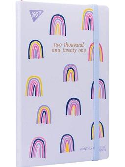 """Планер YES дата анг. """"Rainbow"""", тверд., 192 *132мм, 146 стр, стикеры (151659) [5056137173556]"""