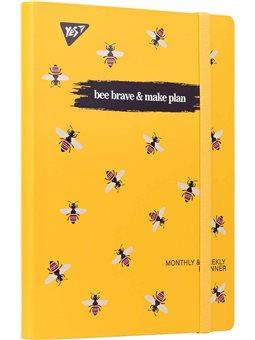 "Планер YES недата укр. ""Bee Brave"", интегр., 197*145мм, 192 стр, стикеры (151662) [5056137173570]"