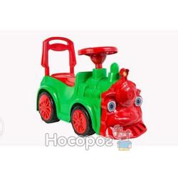 Машинка для катания ПАРОВОЗИК зеленый 761