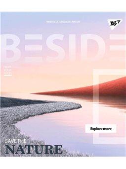 """Тетрадь для записей А5/24 кл. YES """"BESIDE"""" иридиум+УФ.спл. (764297) [4823092248398]"""